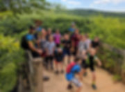 Castle Wood Over Look St. Louis Mountain Bike Camps Group Photo