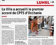 Midi Libre CPTS LUNEL