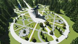 мемориальный комплекс на месте гибели Ю.А.Гагарина и его лётного наставника