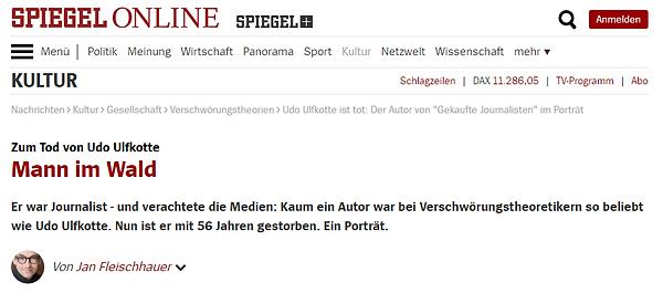 Spiegel online Fleischhauer zum Tod von