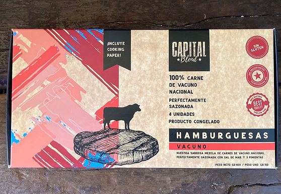 Hamburguesas Capital Blend 4 unid 150 grs c/u