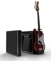 Travel Amplifier with Integrated Guitar Stand