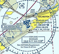 KGLS VFR Chart