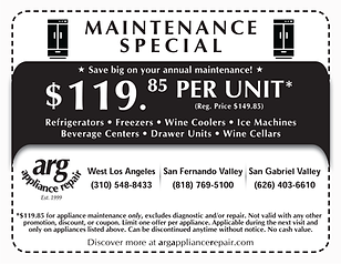 $119.85 MAINTENANCE SPECIAL - APPLICABLE ALL REFRIGERATION UNITS WE SERVICE!