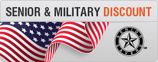 Proudly offering discounts to seniors & military personel.