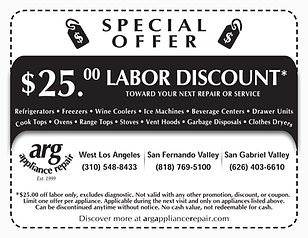 $25 LABOR DISCOUNT - APPLICABLE TO ALL UNITS WE REPAIR!