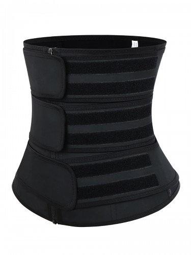 Leather 3-Strap Waist Trainer