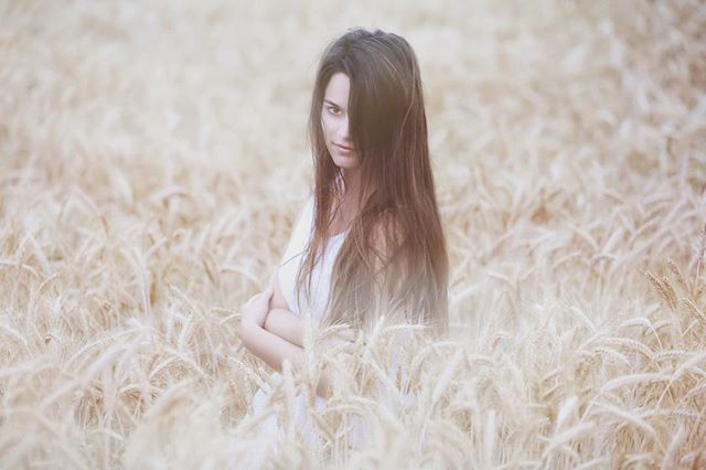 #girl #summer #cornfield #sommer #brownh