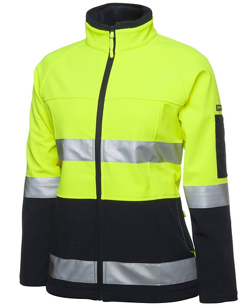 WOMENS HI VIS SOFTSHELL JACKET WITH 3M TAPE