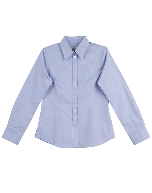 WOMEN'S CVC OXFORD LONG SLEEVE SHIRT