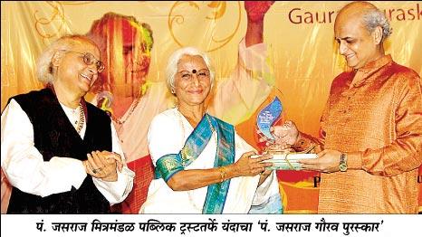 Receiving Jasraj Puraskar