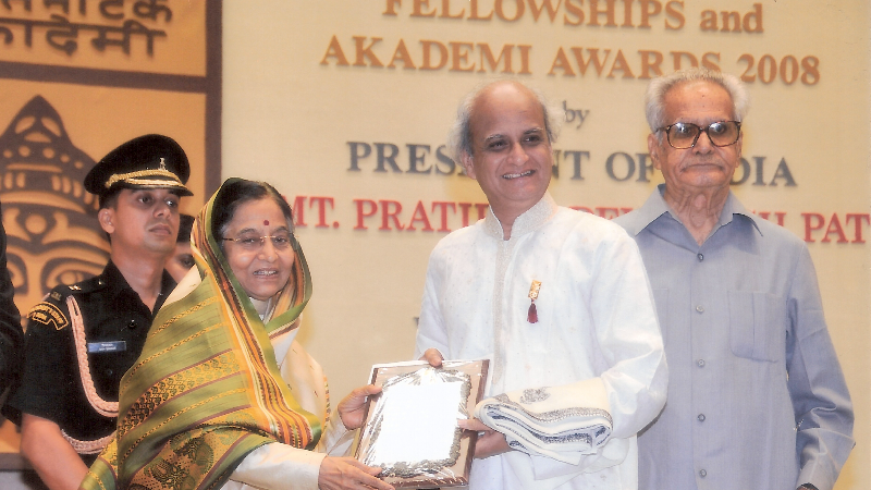 Receiving SangeetNatakAkademi Award