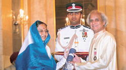 Receiving Padmashree