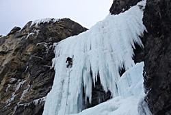 Ice Climbing near Banff