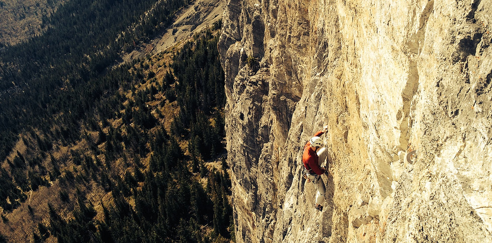 Rock climbing, Yamnuska, learn to climb
