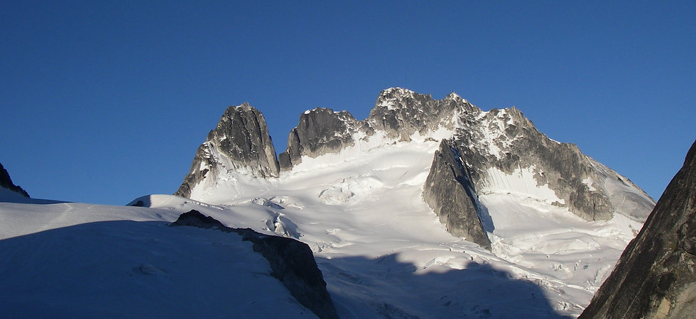 Alpine rock in the Bugaboos and Canadian rockies
