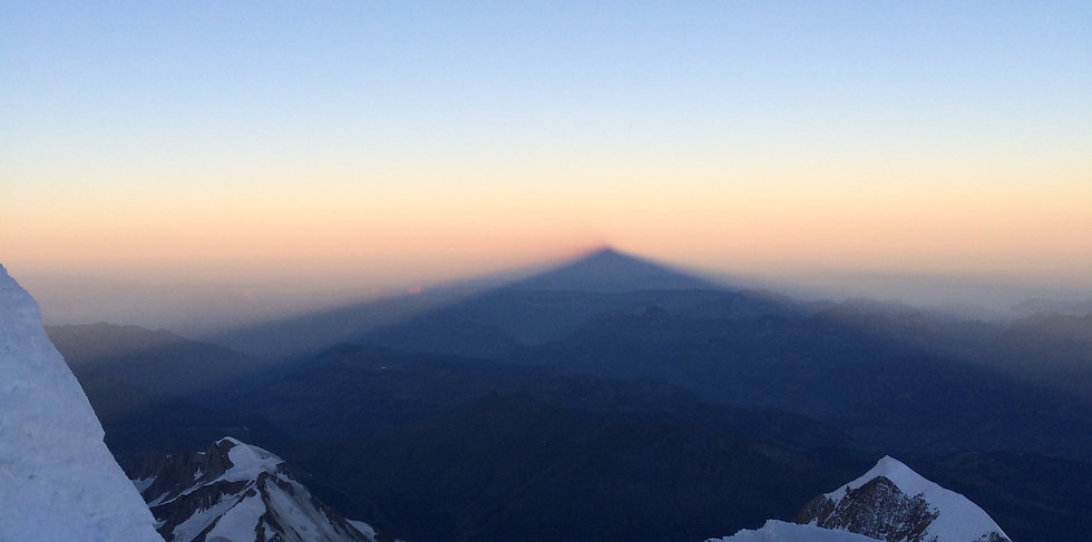 Mont Blanc casts its shadow