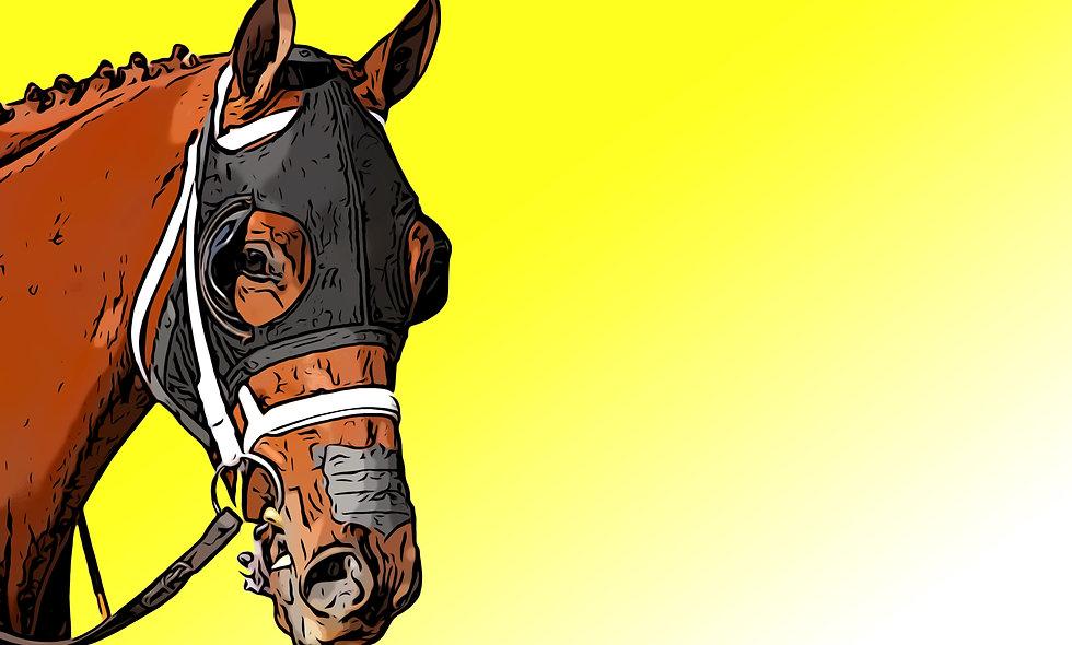 Yellow Race Horse Digital File