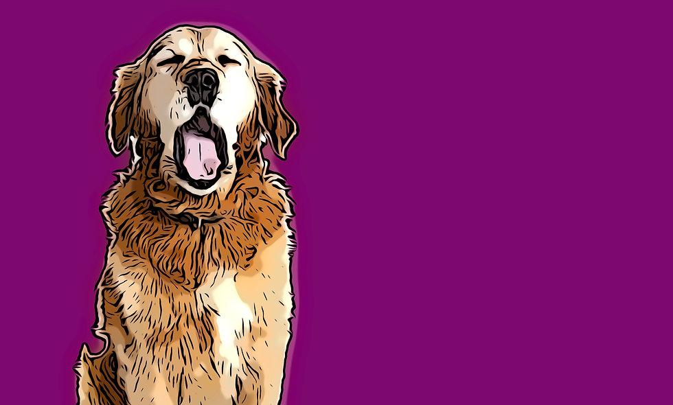 Yawning Golden Digital File