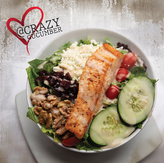 Healthy eating out at the Crazy Cucumber. Restaurant and Bar Ocala, Florida.