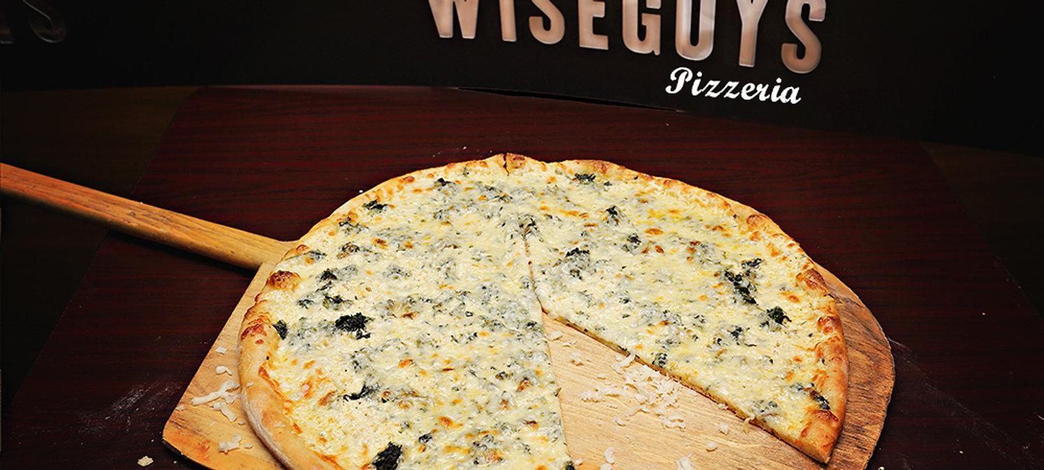 Wiseguys Pizzeria Of Ocala, Florida White Cheese Pizza.