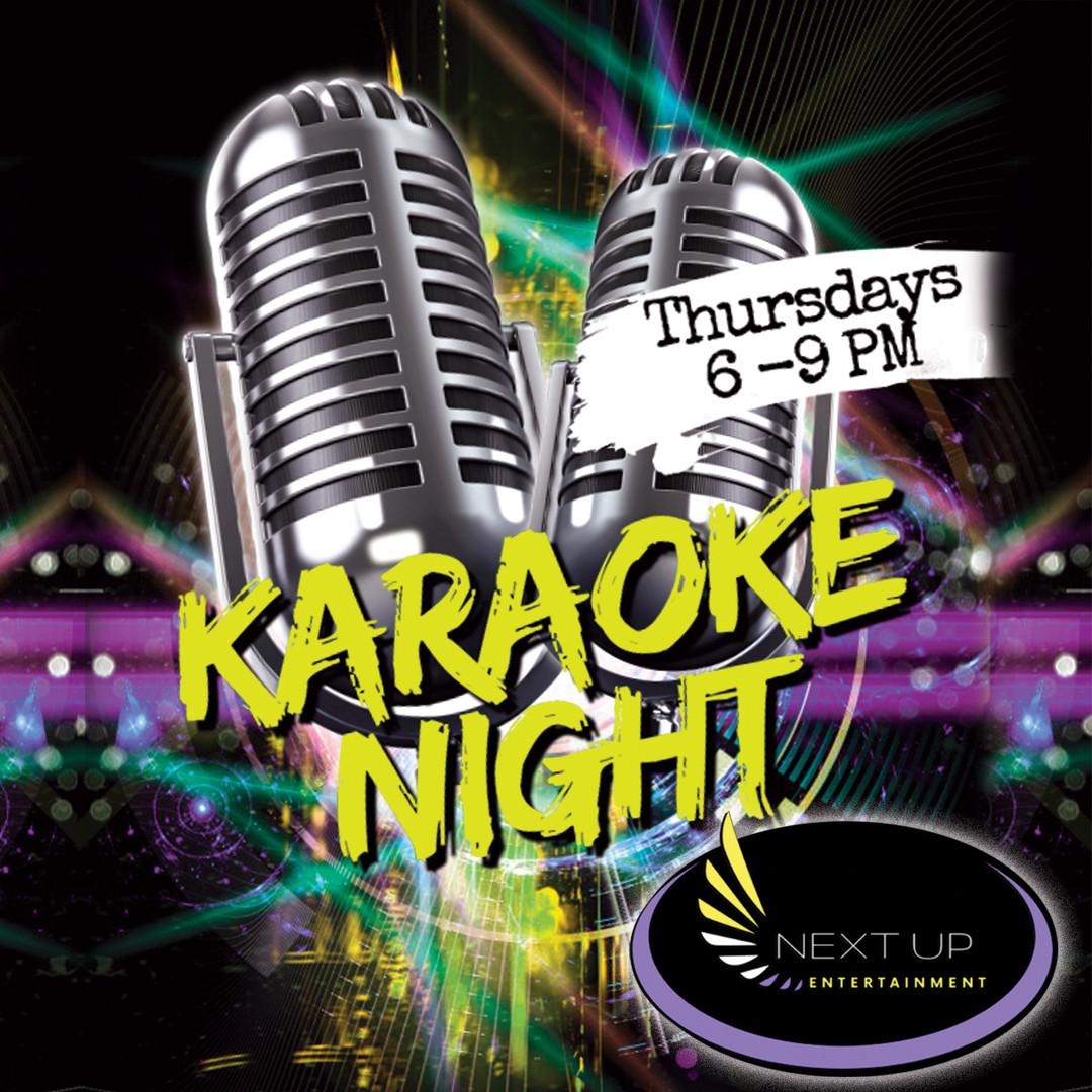 Karaoke Night Thursdays 6-9