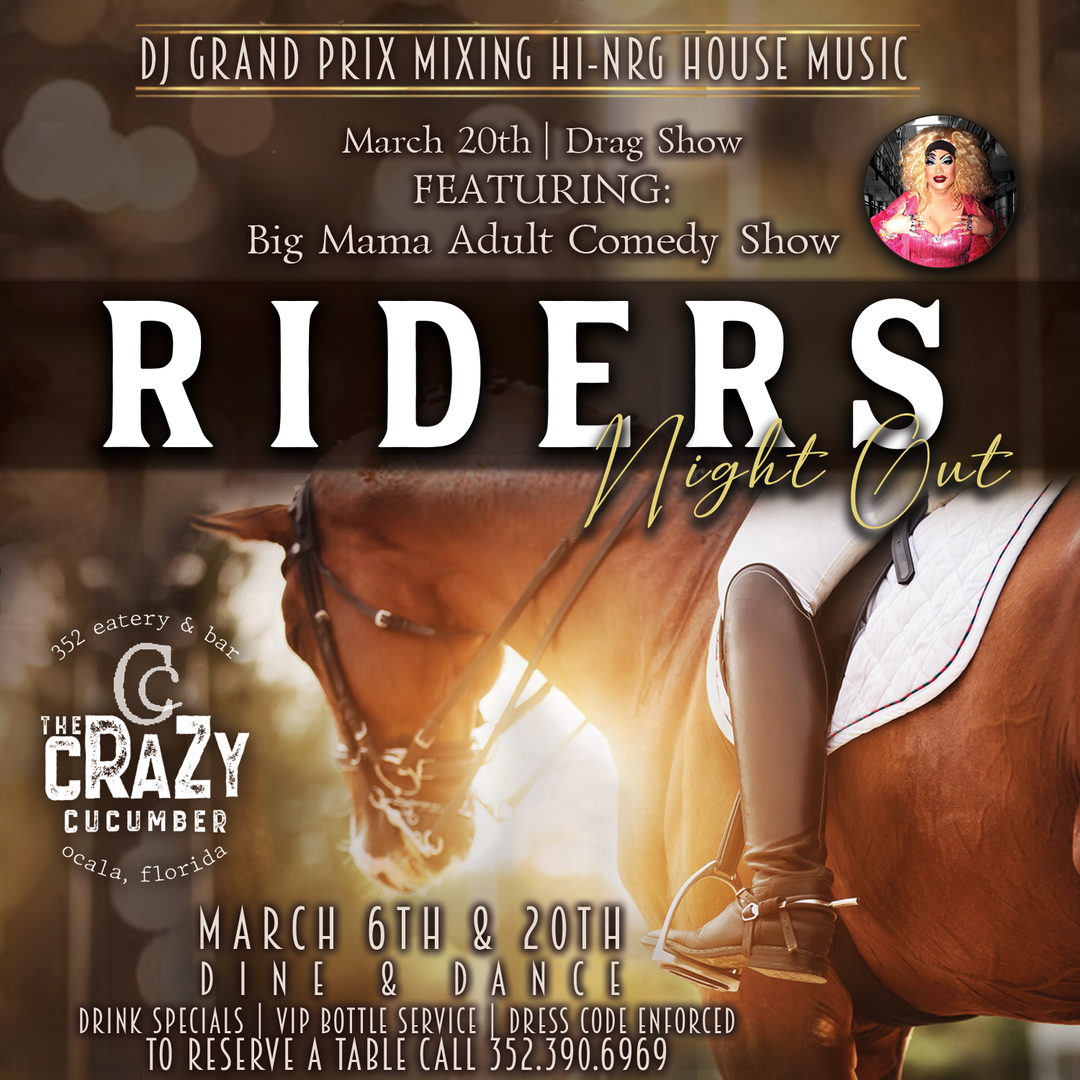 Riders Night @ Crazy Cucumber. Restaurant. Bar. Events.Parties.Dancing