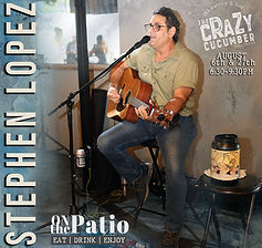 Live music at The Crazy Cucumber Eatery and Bar. Restaurant and Bar in Ocala. Boozy Restau
