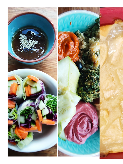 Menu végétal de la semaine : Entrée/Plat/Dessert