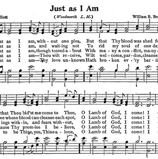 """""""Just As I Am"""" Hymn"""