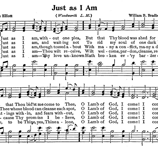 """Just As I Am"" Hymn"