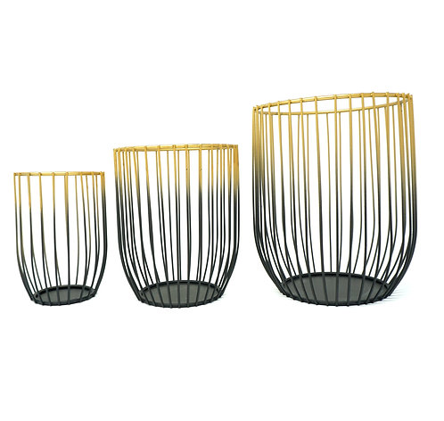 Set of 3 Elegant Metal Holders Great for Pillar Candles and Tealights