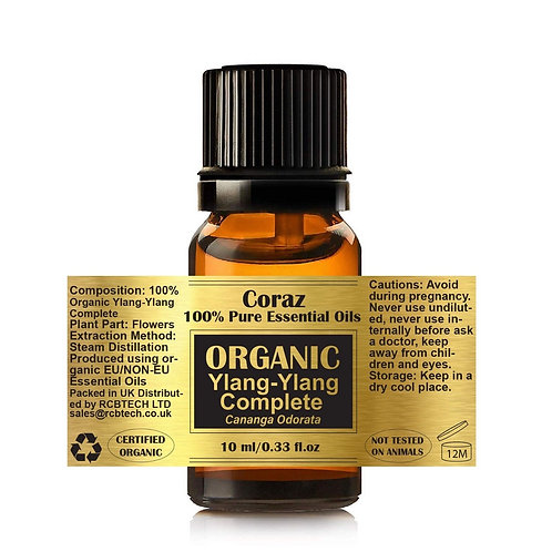 Ylang-Ylang Complete 100% Organic Essential Oil Cananga Odorata
