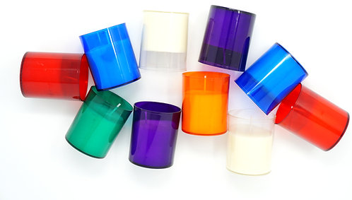 Pack of 12 Unscented Maxi Tealights in Coloured Holder 20 Hours Each Candle