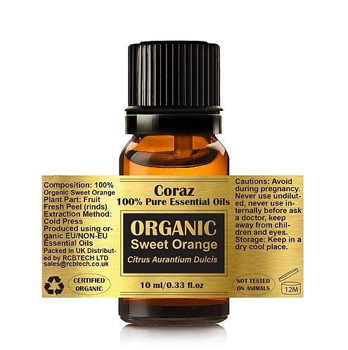 Sweet Orange 100% Organic Essential Oil Citrus Aurantium Dulcis