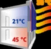 Funktionsprinzip einer Bio-Klimafassade auf Basis einer Textilfassade