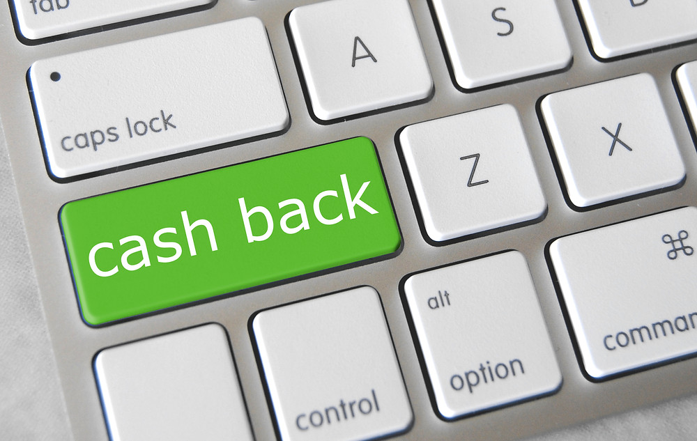 cashback apps - showing a cashback button in keyboard