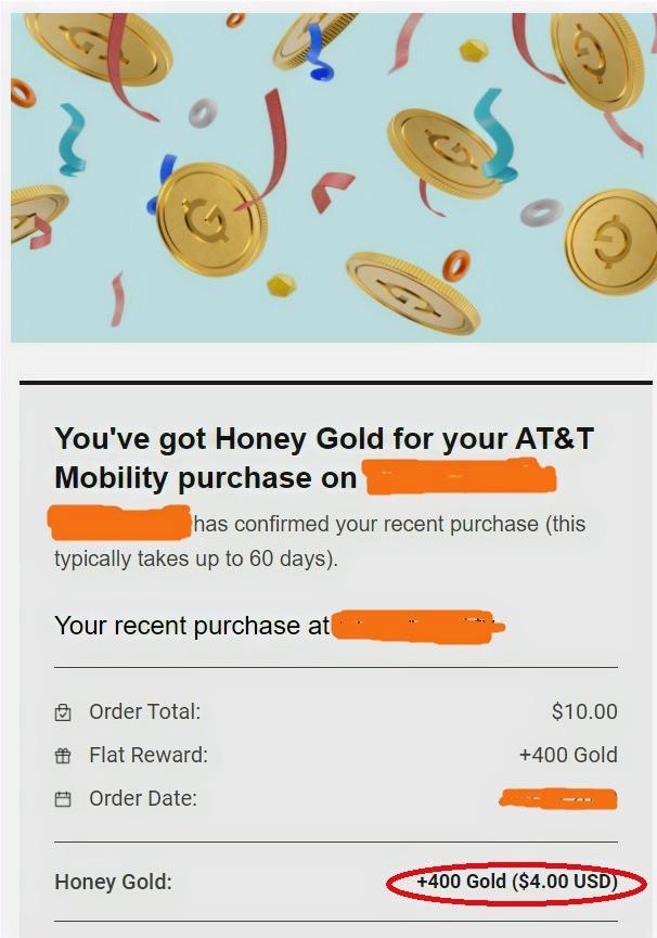 Screenshot of Honey extension redeem cashback