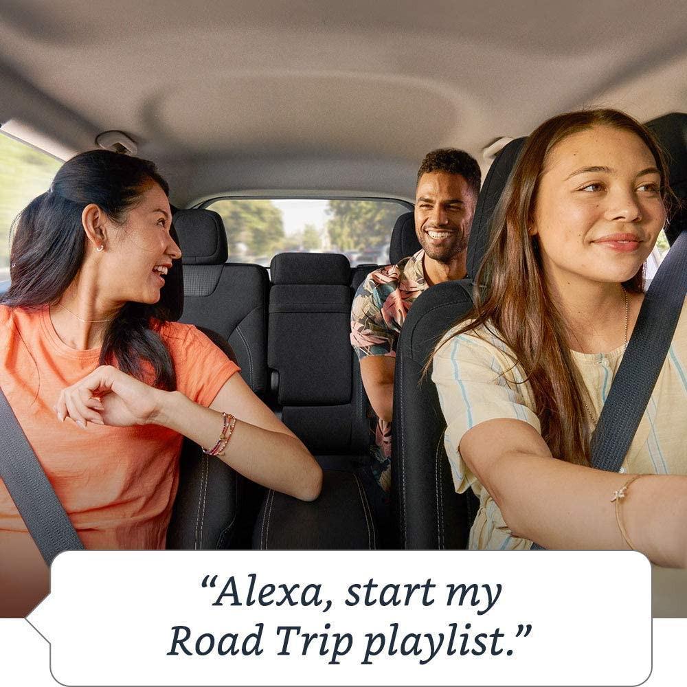 Amazon Alexa inside the car for roadtrip playlist