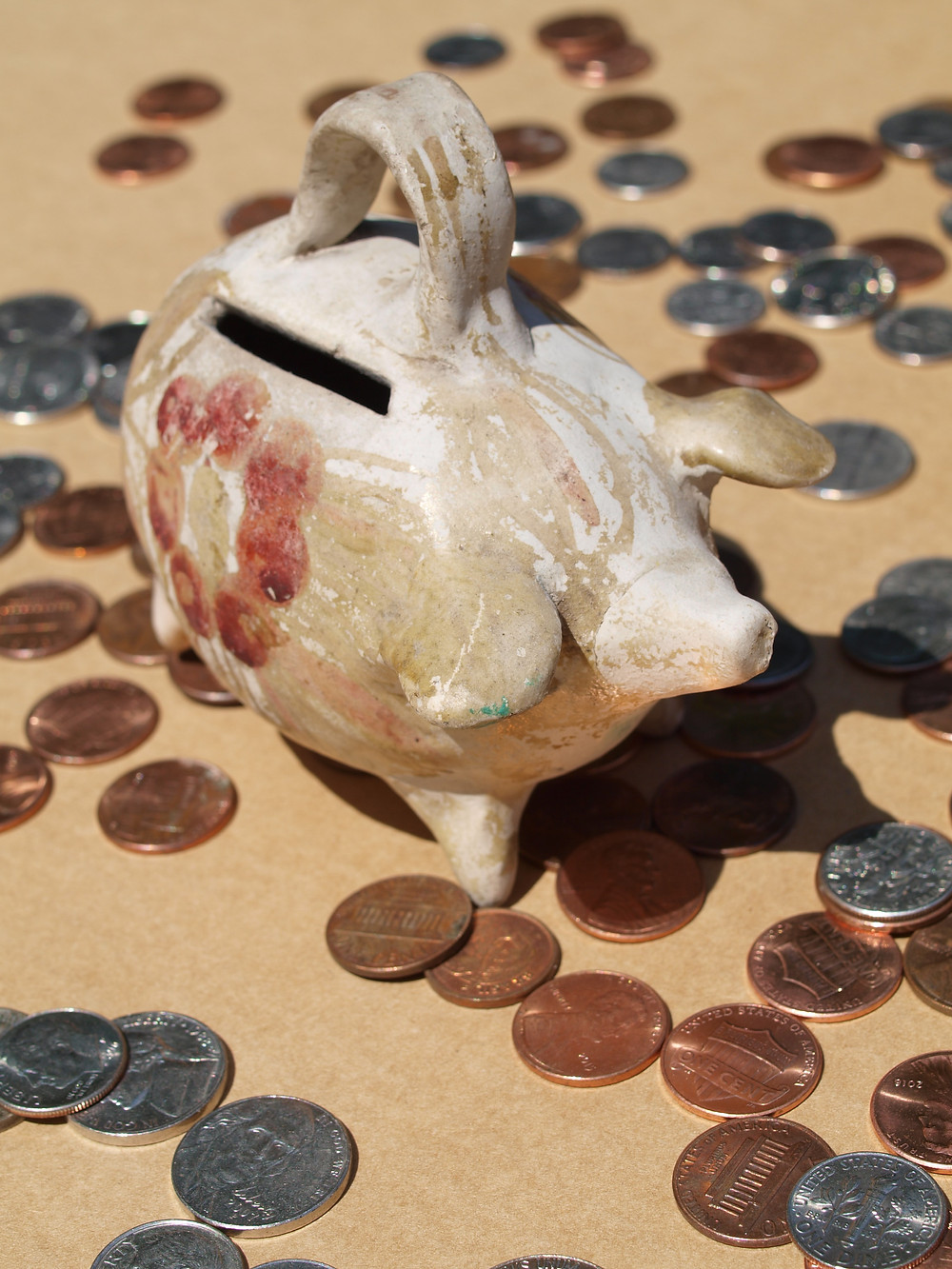 Piggy bank photo - saving money every month