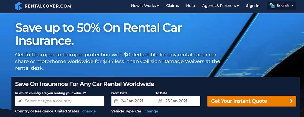 RentalCover car insurance