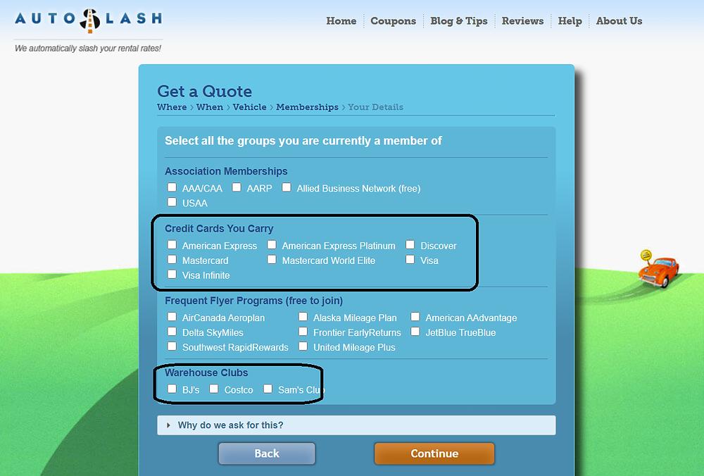 AutoSlash review for online car rental website