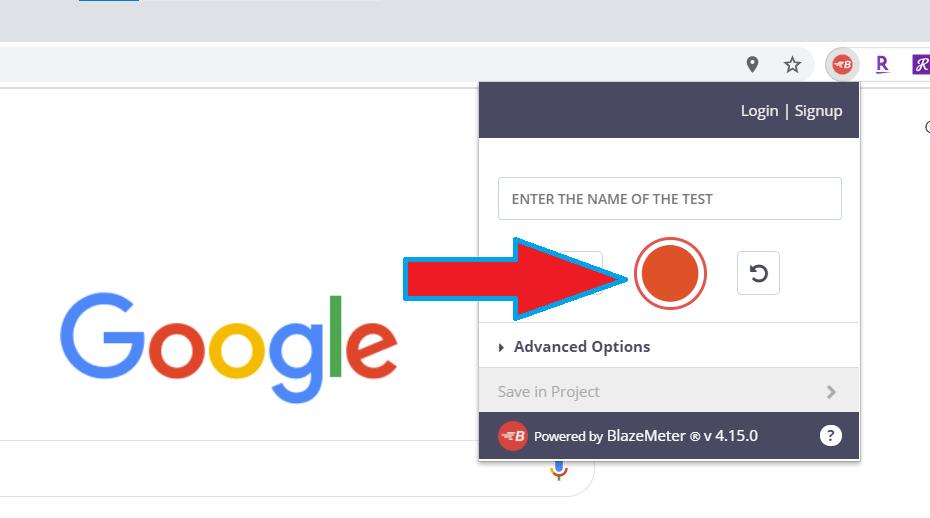 The BlazeMeter Chrome Extension