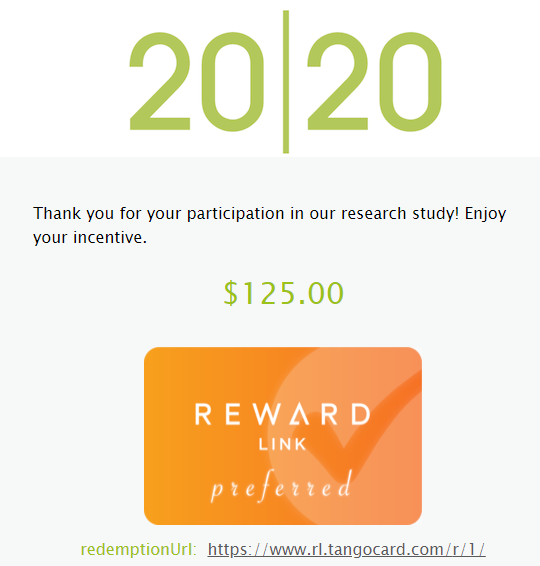 survey e-gift card rewards email