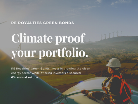 RE Royalties Announces Inaugural $10 Million Green Bond Offering