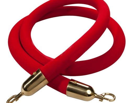 Gold Queue Barrier Rope