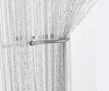 White Sparkling String Curtain Panel