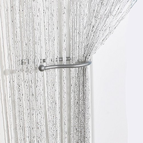 White Sparkling String Curtain