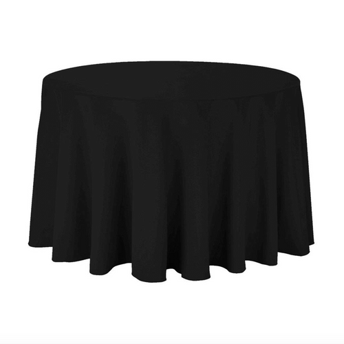 Black Round Tablecloth