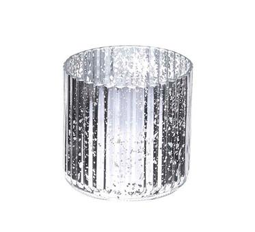 Medium Silver Mercury Ribbed Vase